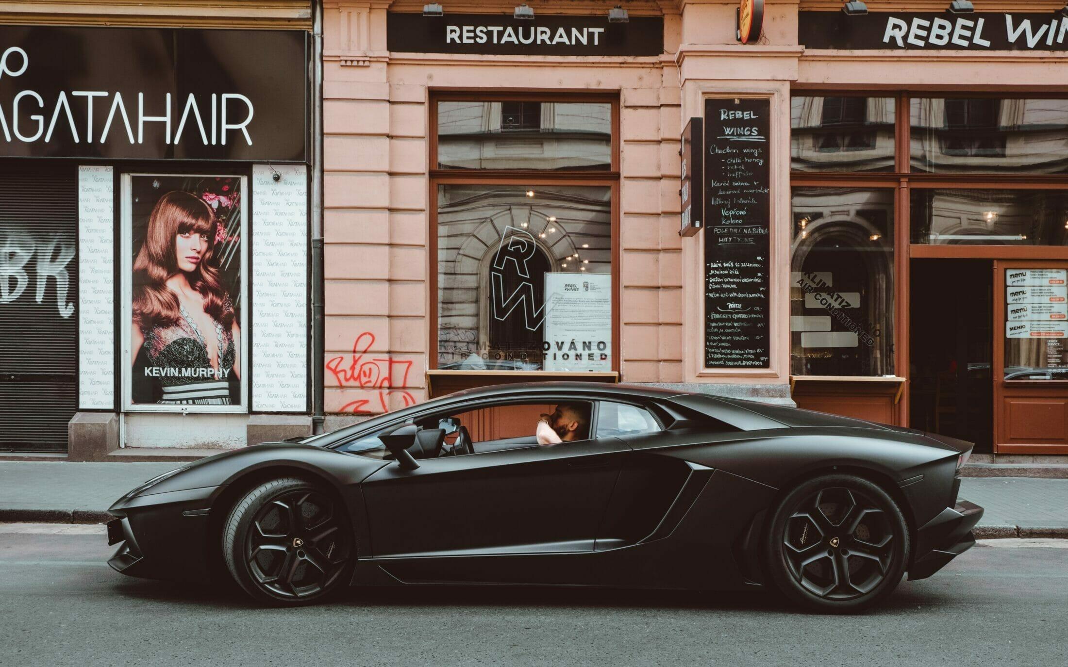 Lamborghini on street