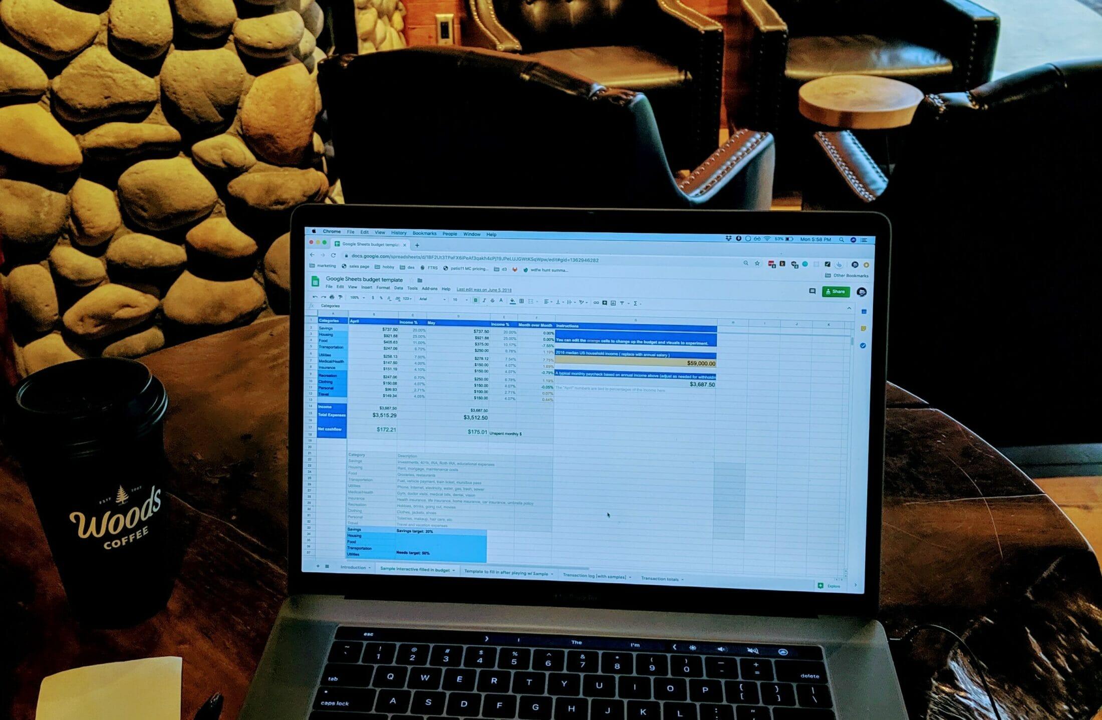 computer budget coffee shop